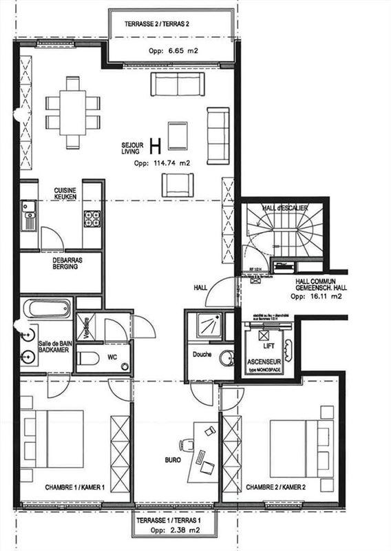 Foto 4 : Appartement te 1080 SINT-JANS-MOLENBEEK (België) - Prijs € 263.000